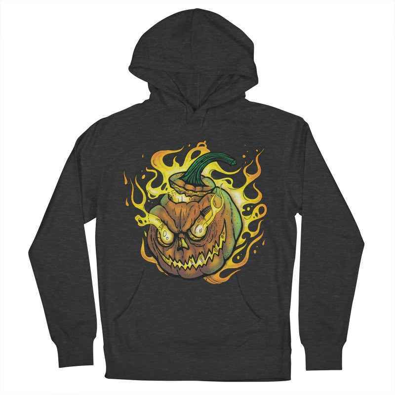 Possessed Jack O' Lantern Women's French Terry Pullover Hoody by Celtic Hammer Club