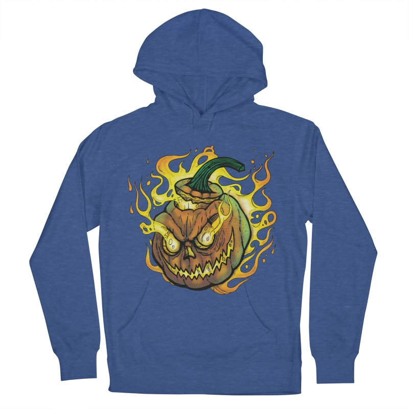 Possessed Jack O' Lantern Women's French Terry Pullover Hoody by Celtic Hammer Club Apparel