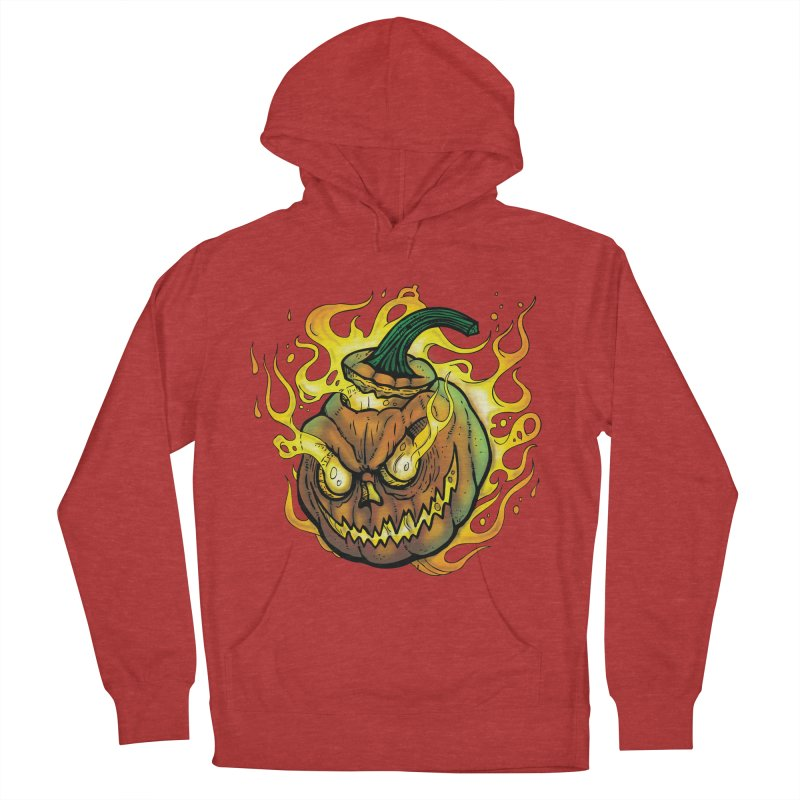 Possessed Jack O' Lantern Men's French Terry Pullover Hoody by Celtic Hammer Club