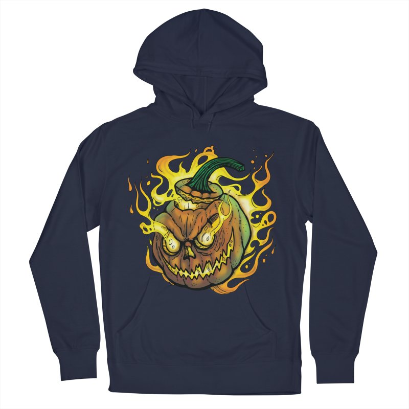 Possessed Jack O' Lantern Men's French Terry Pullover Hoody by Celtic Hammer Club Apparel