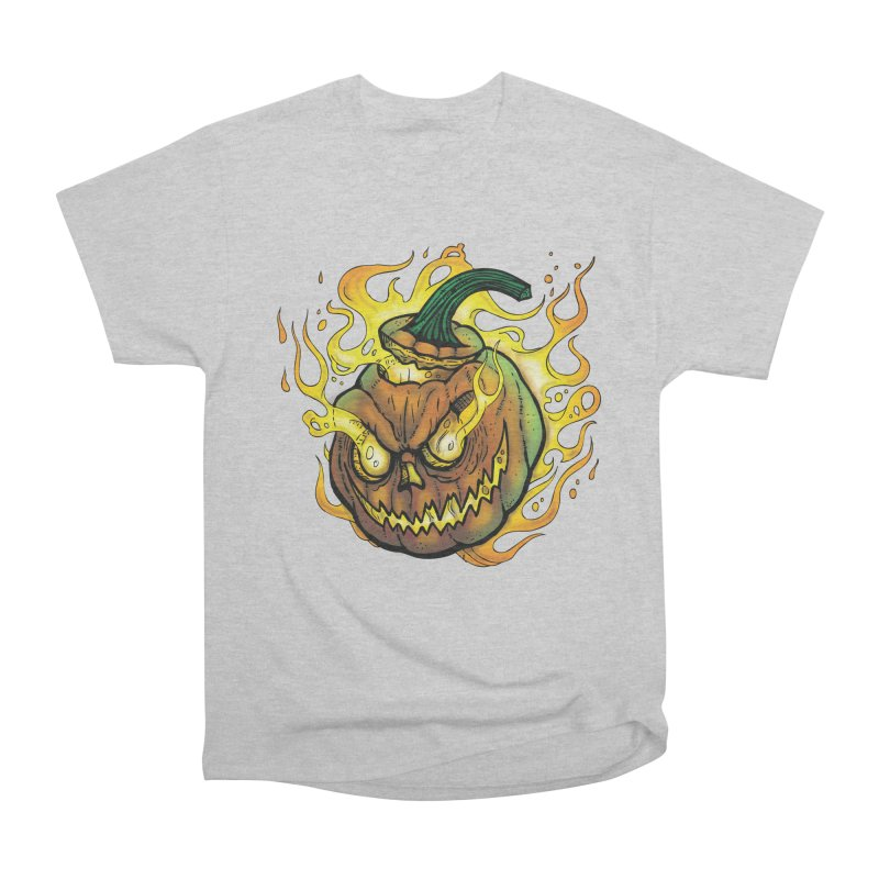 Possessed Jack O' Lantern Men's Heavyweight T-Shirt by Celtic Hammer Club
