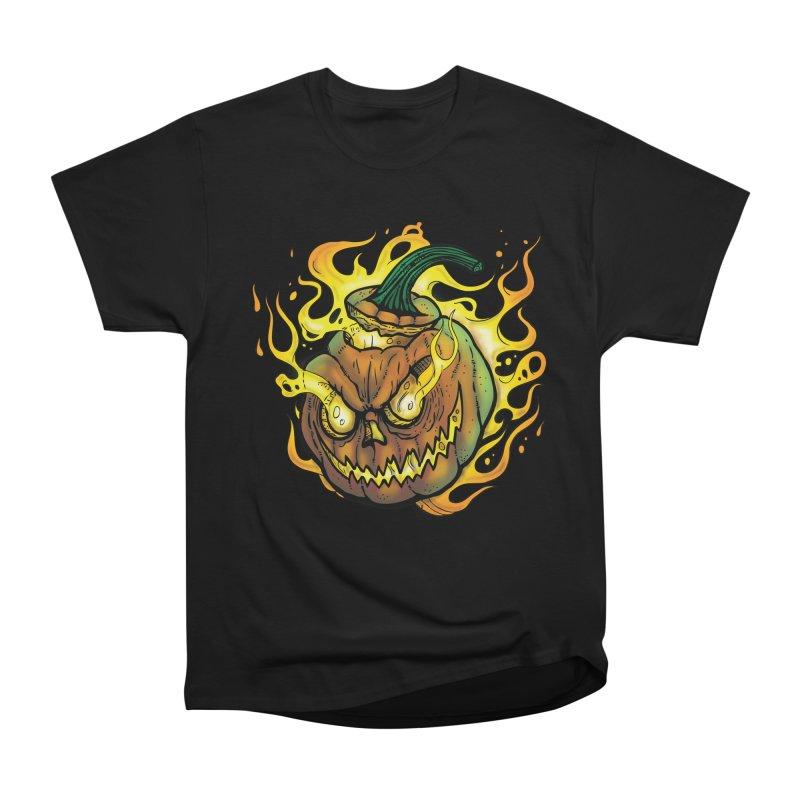 Possessed Jack O' Lantern Women's Heavyweight Unisex T-Shirt by Celtic Hammer Club Apparel