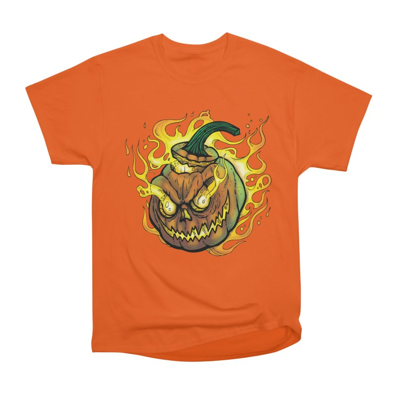 Possessed Jack O' Lantern Women's Heavyweight Unisex T-Shirt by Celtic Hammer Club