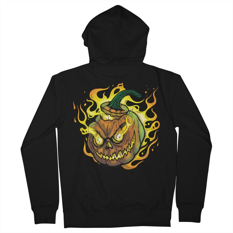 Possessed Jack O' Lantern Women's French Terry Zip-Up Hoody by Celtic Hammer Club Apparel