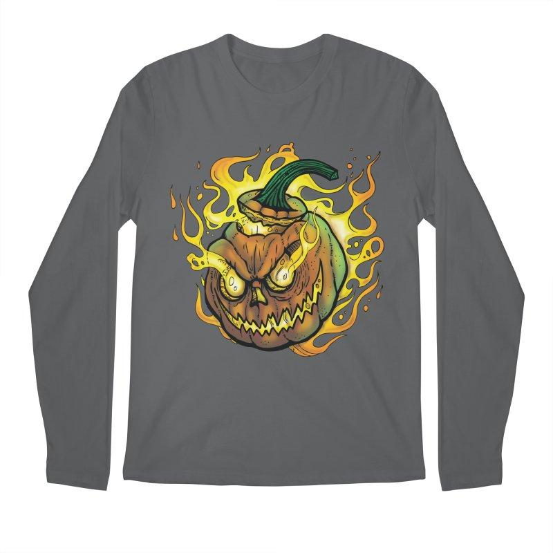 Possessed Jack O' Lantern Men's Longsleeve T-Shirt by Celtic Hammer Club