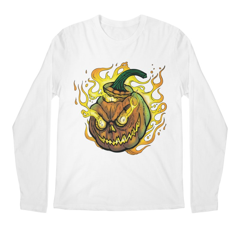 Possessed Jack O' Lantern Men's Regular Longsleeve T-Shirt by Celtic Hammer Club