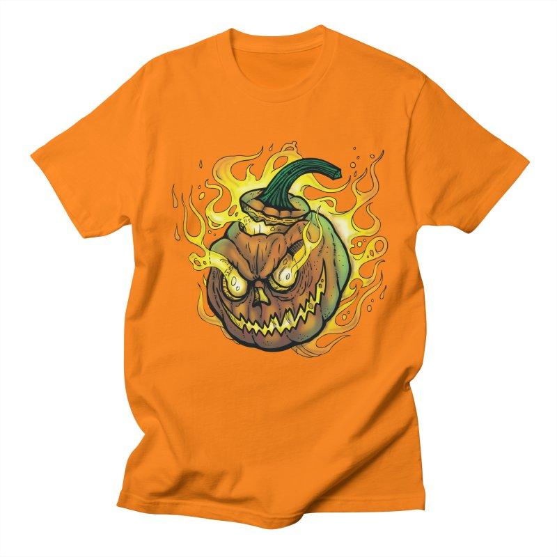 Possessed Jack O' Lantern Men's Regular T-Shirt by Celtic Hammer Club