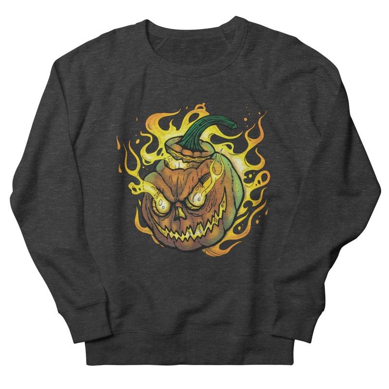 Possessed Jack O' Lantern Women's French Terry Sweatshirt by Celtic Hammer Club