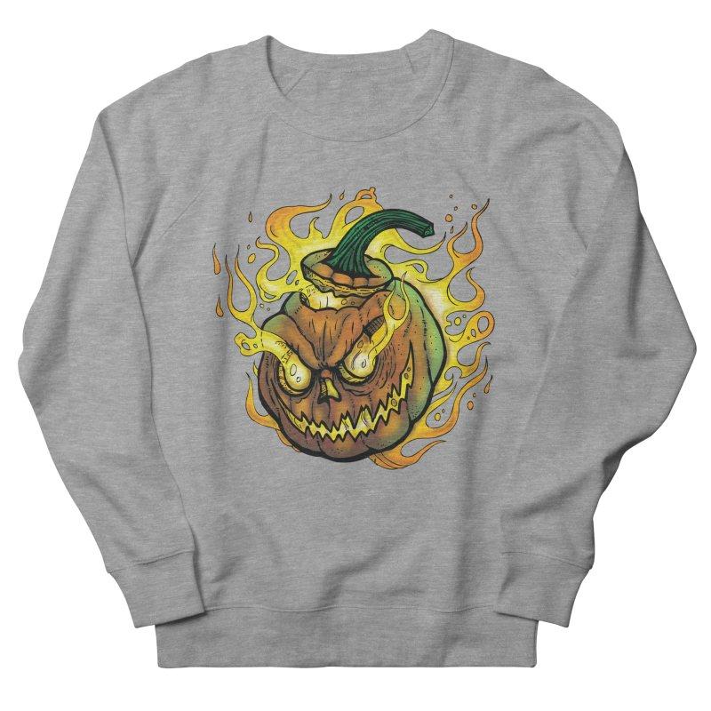 Possessed Jack O' Lantern Women's French Terry Sweatshirt by Celtic Hammer Club Apparel