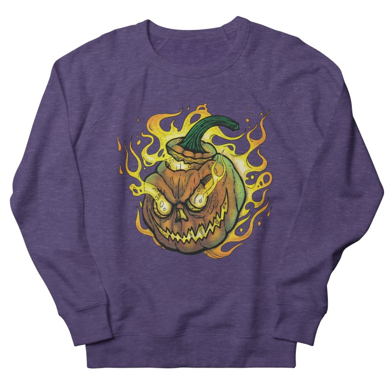 Possessed Jack O' Lantern Men's French Terry Sweatshirt by Celtic Hammer Club Apparel