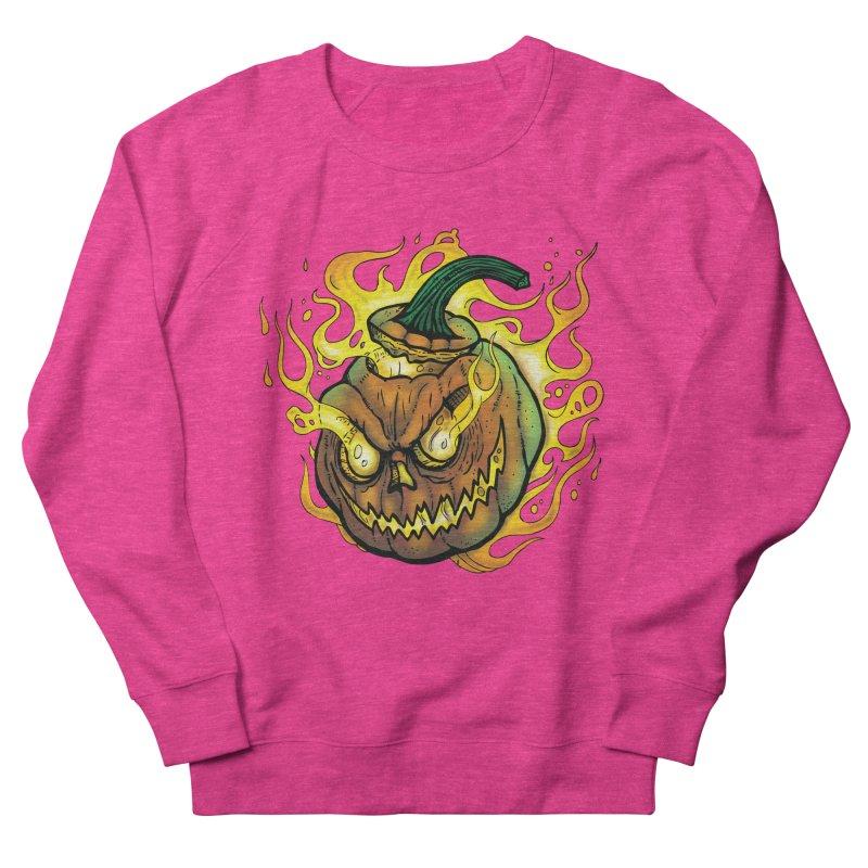 Possessed Jack O' Lantern Men's French Terry Sweatshirt by Celtic Hammer Club