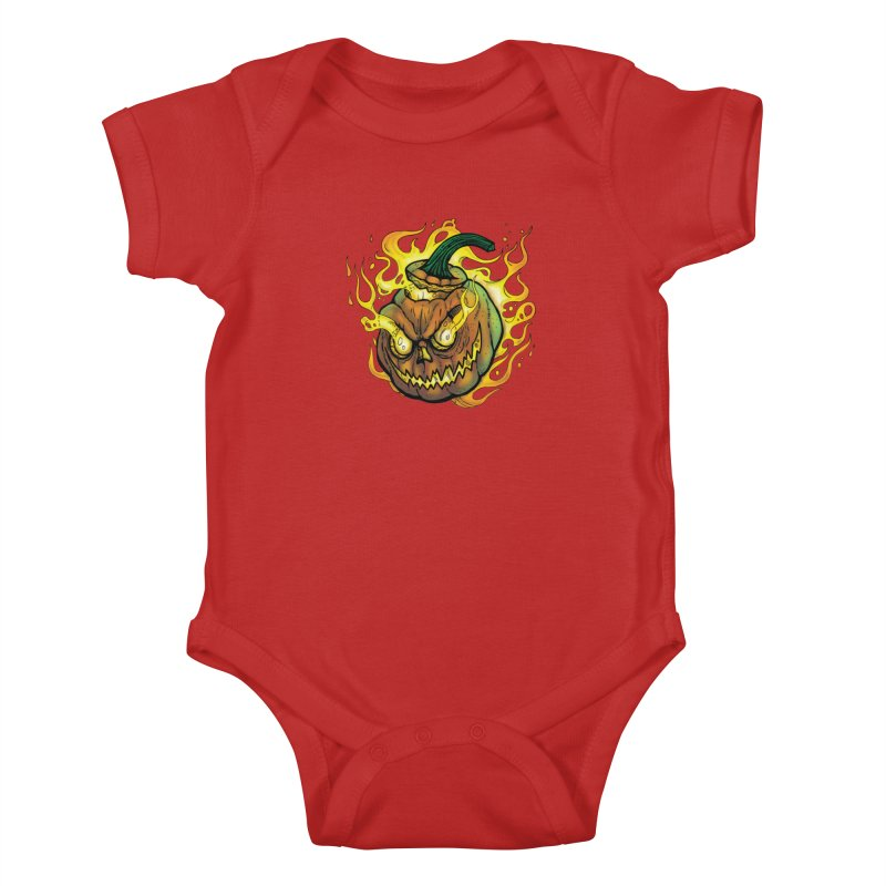 Possessed Jack O' Lantern Kids Baby Bodysuit by Celtic Hammer Club Apparel