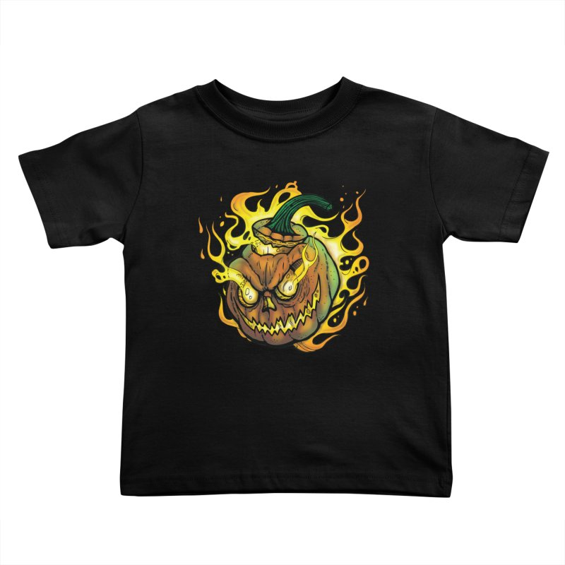 Possessed Jack O' Lantern Kids Toddler T-Shirt by Celtic Hammer Club