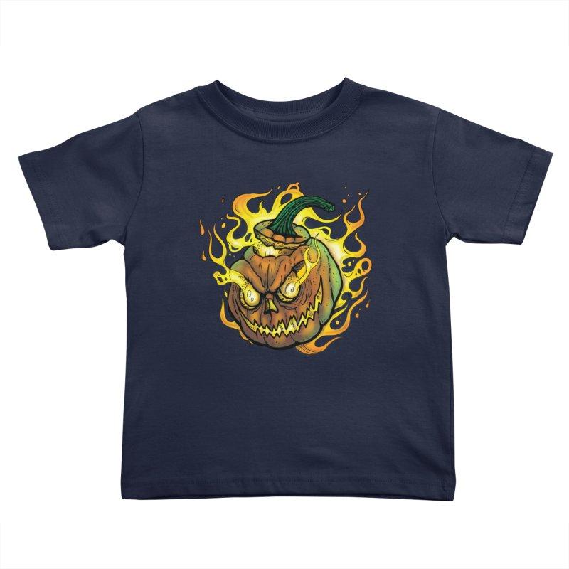Possessed Jack O' Lantern Kids Toddler T-Shirt by Celtic Hammer Club Apparel
