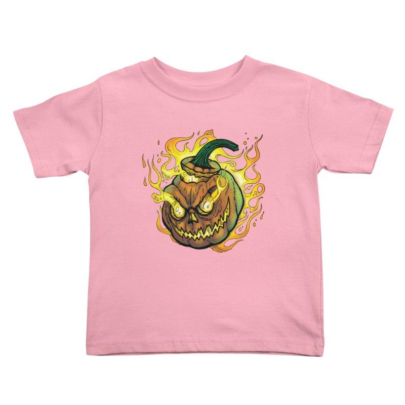 Possessed Jack O' Lantern Kids Toddler T-Shirt by Celtic Hammer Club