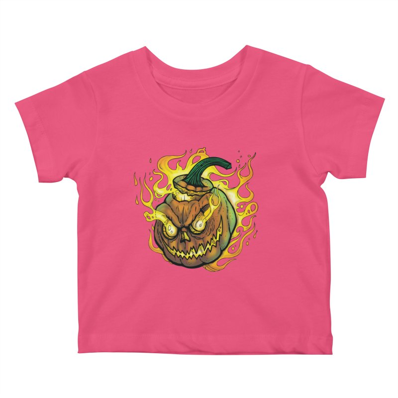 Possessed Jack O' Lantern Kids Baby T-Shirt by Celtic Hammer Club