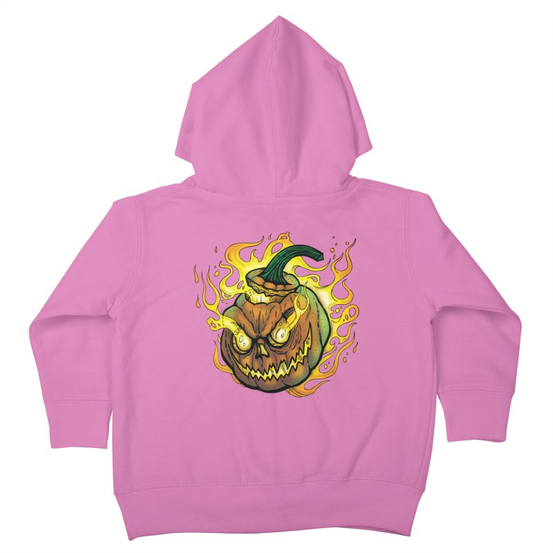 Possessed Jack O' Lantern Kids Toddler Zip-Up Hoody by Celtic Hammer Club