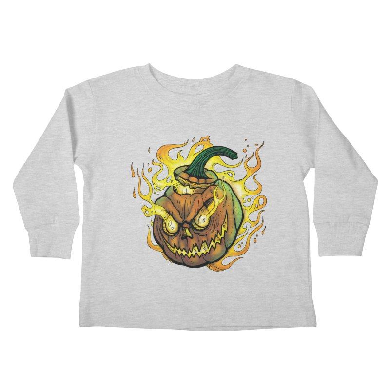 Possessed Jack O' Lantern Kids Toddler Longsleeve T-Shirt by Celtic Hammer Club