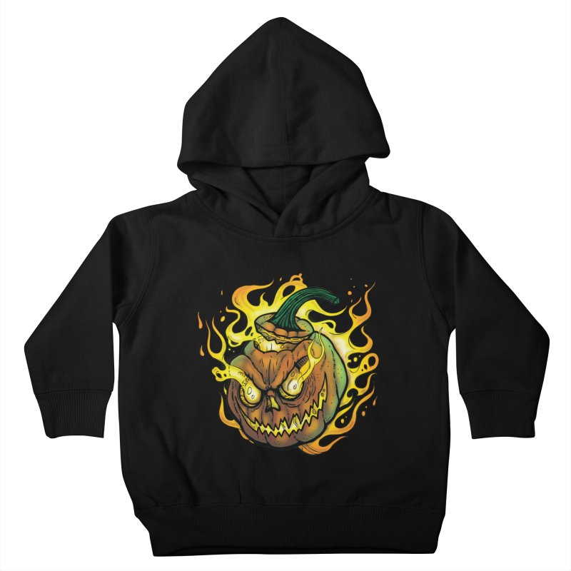Possessed Jack O' Lantern Kids Toddler Pullover Hoody by Celtic Hammer Club
