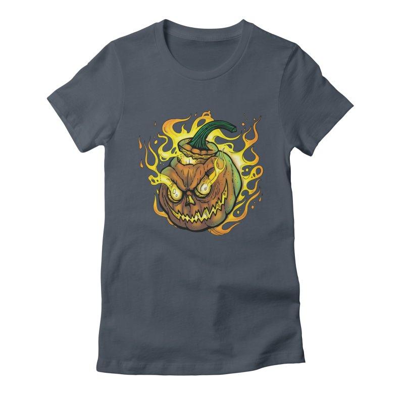 Possessed Jack O' Lantern Women's T-Shirt by Celtic Hammer Club