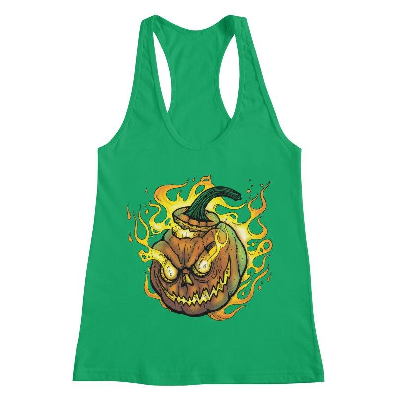 Possessed Jack O' Lantern Women's Tank by Celtic Hammer Club