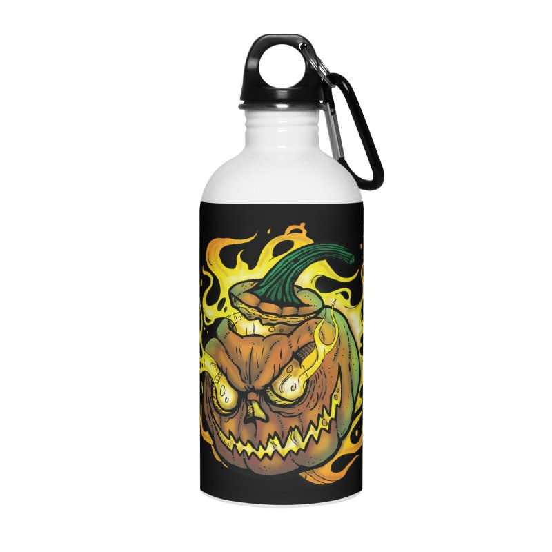 Possessed Jack O' Lantern Accessories Water Bottle by Celtic Hammer Club Apparel