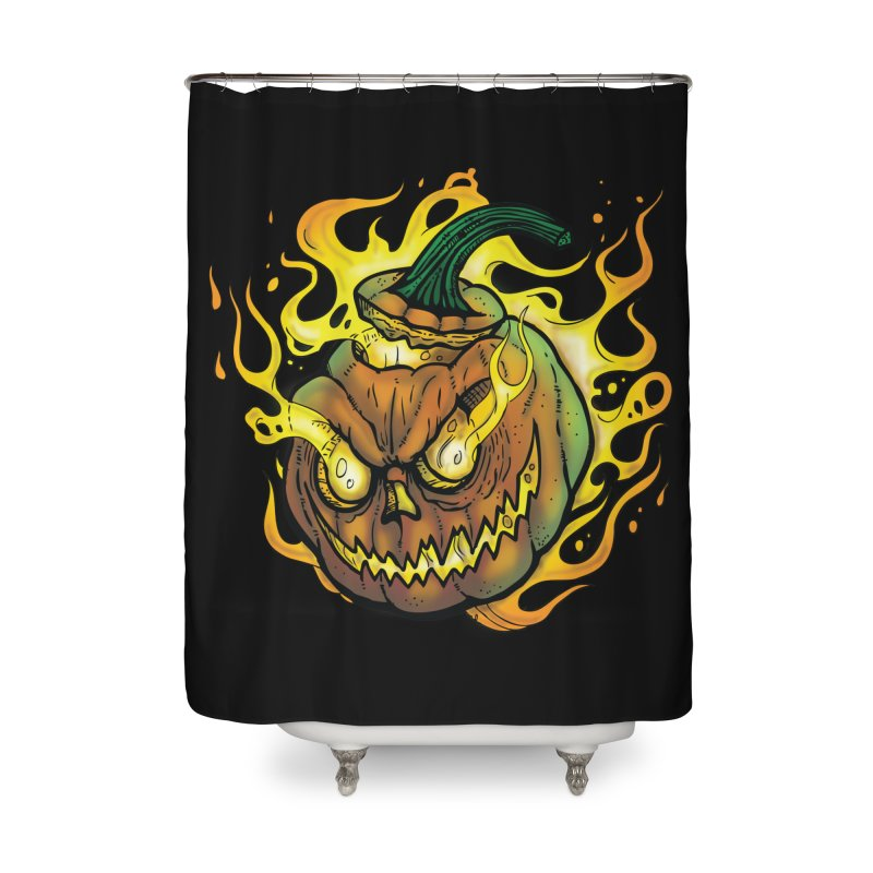 Possessed Jack O' Lantern Home Shower Curtain by Celtic Hammer Club Apparel