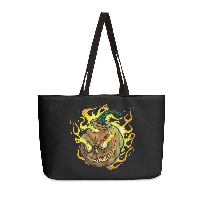 Possessed Jack O' Lantern Accessories Weekender Bag Bag by Celtic Hammer Club