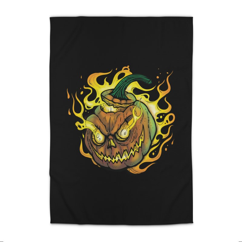 Possessed Jack O' Lantern Home Rug by Celtic Hammer Club