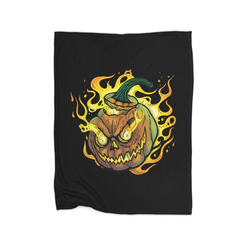 Possessed Jack O' Lantern Home Blanket by Celtic Hammer Club