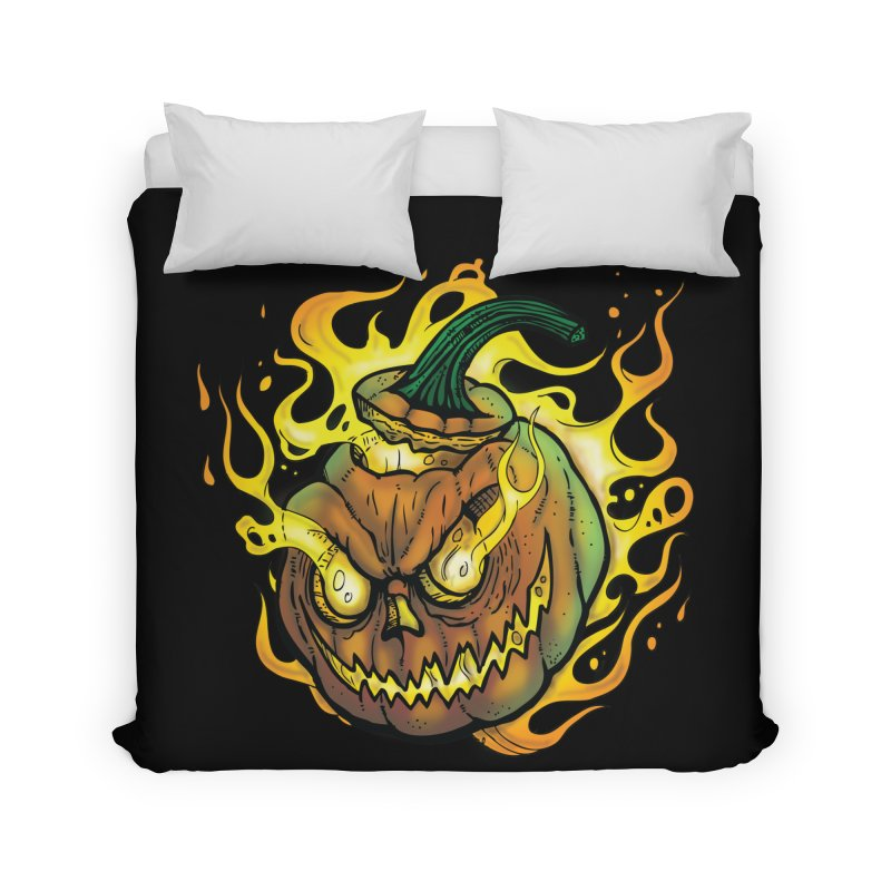 Possessed Jack O' Lantern Home Duvet by Celtic Hammer Club