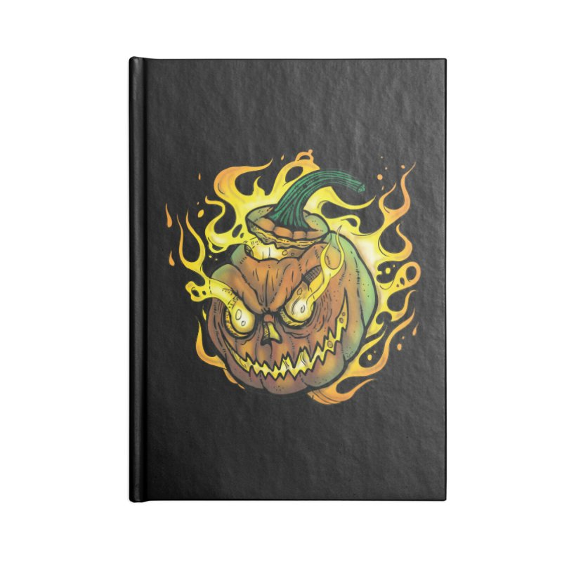 Possessed Jack O' Lantern Accessories Blank Journal Notebook by Celtic Hammer Club