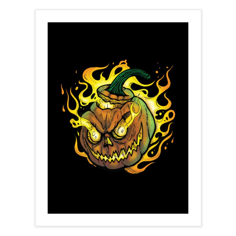Possessed Jack O' Lantern Home Fine Art Print by Celtic Hammer Club