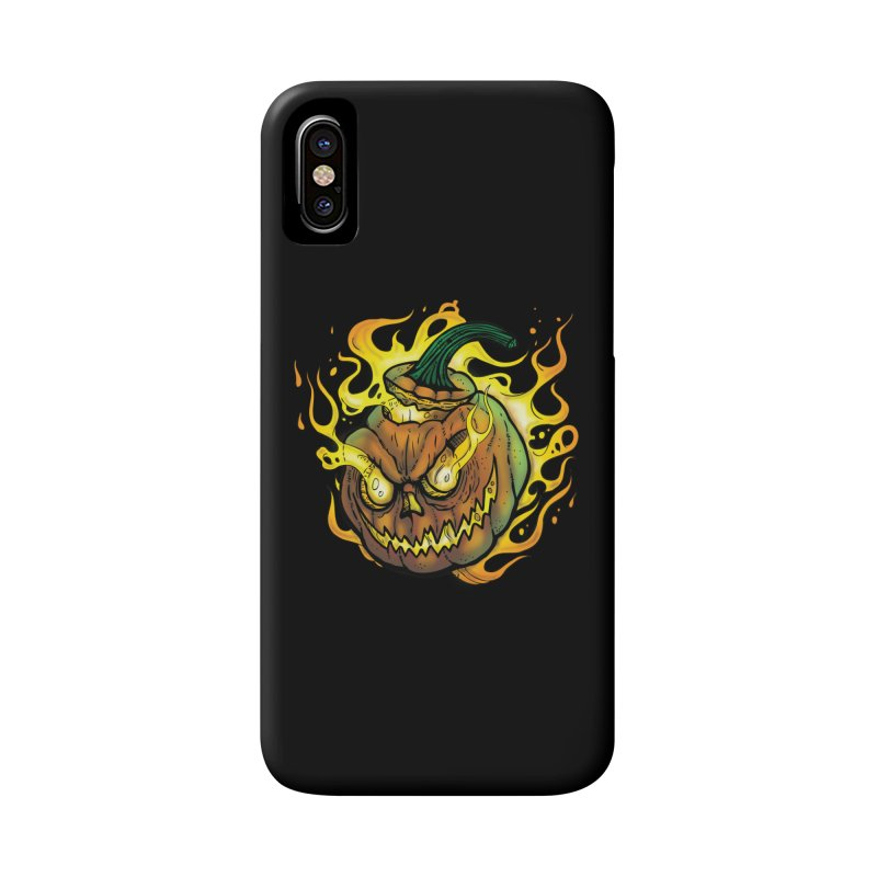 Possessed Jack O' Lantern Accessories Phone Case by Celtic Hammer Club