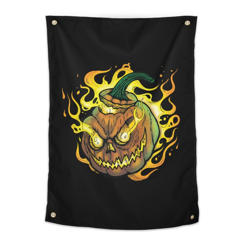 Possessed Jack O' Lantern Home Tapestry by Celtic Hammer Club