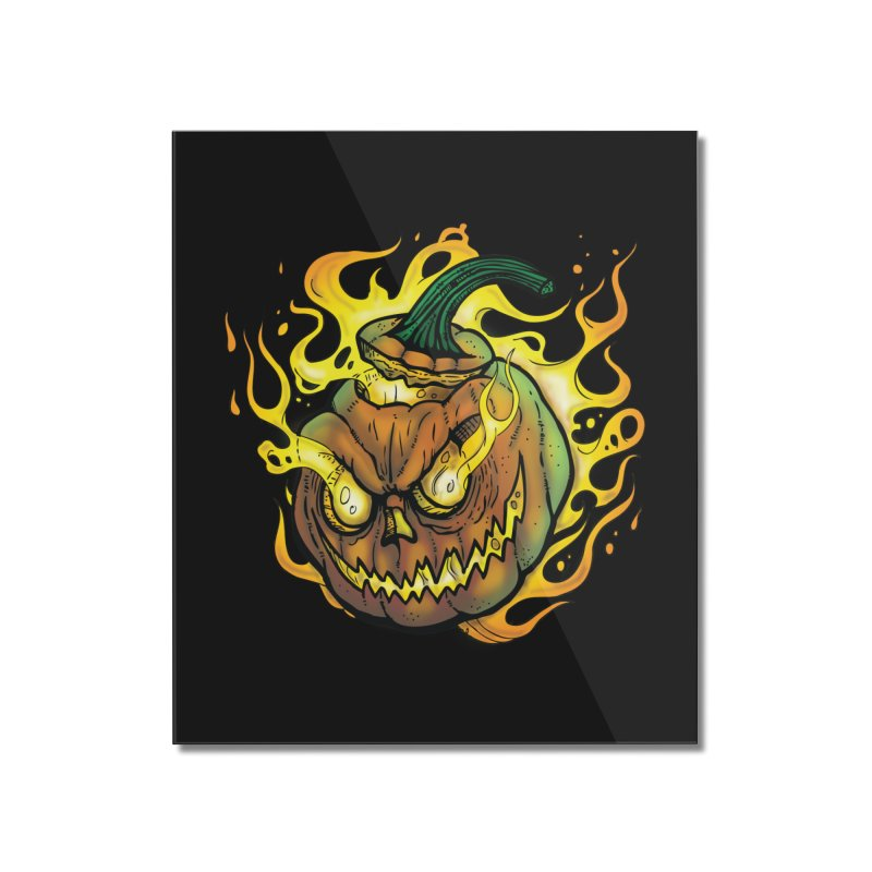 Possessed Jack O' Lantern Home Mounted Acrylic Print by Celtic Hammer Club Apparel