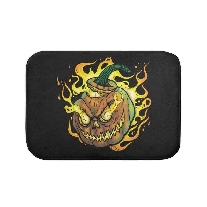 Possessed Jack O' Lantern Home Bath Mat by Celtic Hammer Club