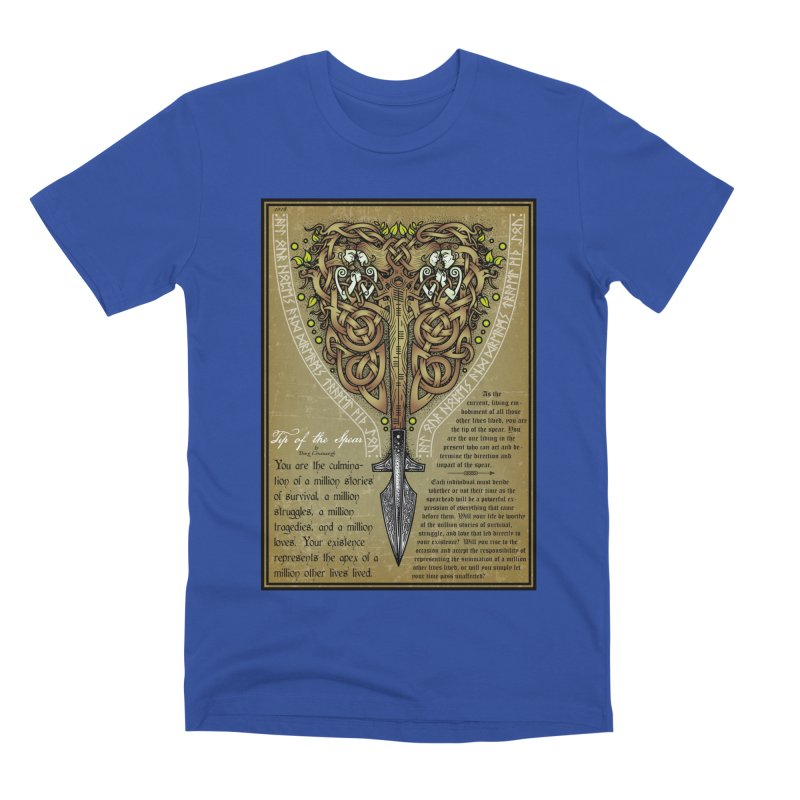 Tip of the Spear (Ancestors) Men's Premium T-Shirt by Celtic Hammer Club