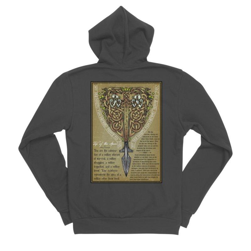 Tip of the Spear (Ancestors) Women's Sponge Fleece Zip-Up Hoody by Celtic Hammer Club