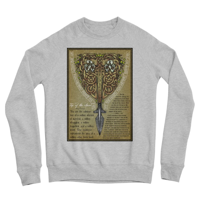 Tip of the Spear (Ancestors) Women's Sponge Fleece Sweatshirt by Celtic Hammer Club