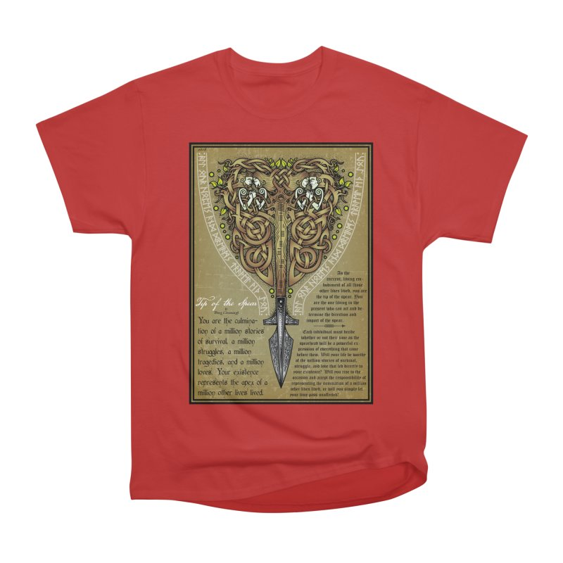 Tip of the Spear (Ancestors) Men's Heavyweight T-Shirt by Celtic Hammer Club