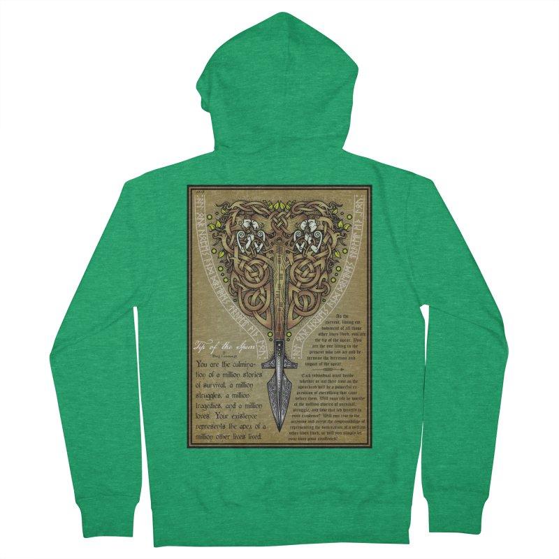 Tip of the Spear (Ancestors) Women's Zip-Up Hoody by Celtic Hammer Club