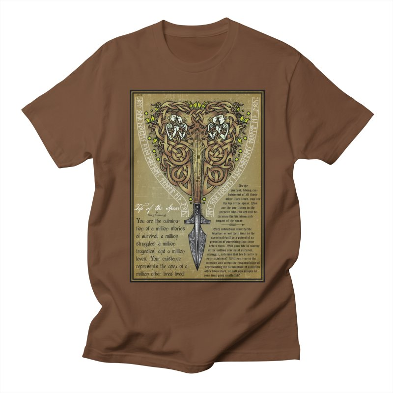 Tip of the Spear (Ancestors) Men's Regular T-Shirt by Celtic Hammer Club