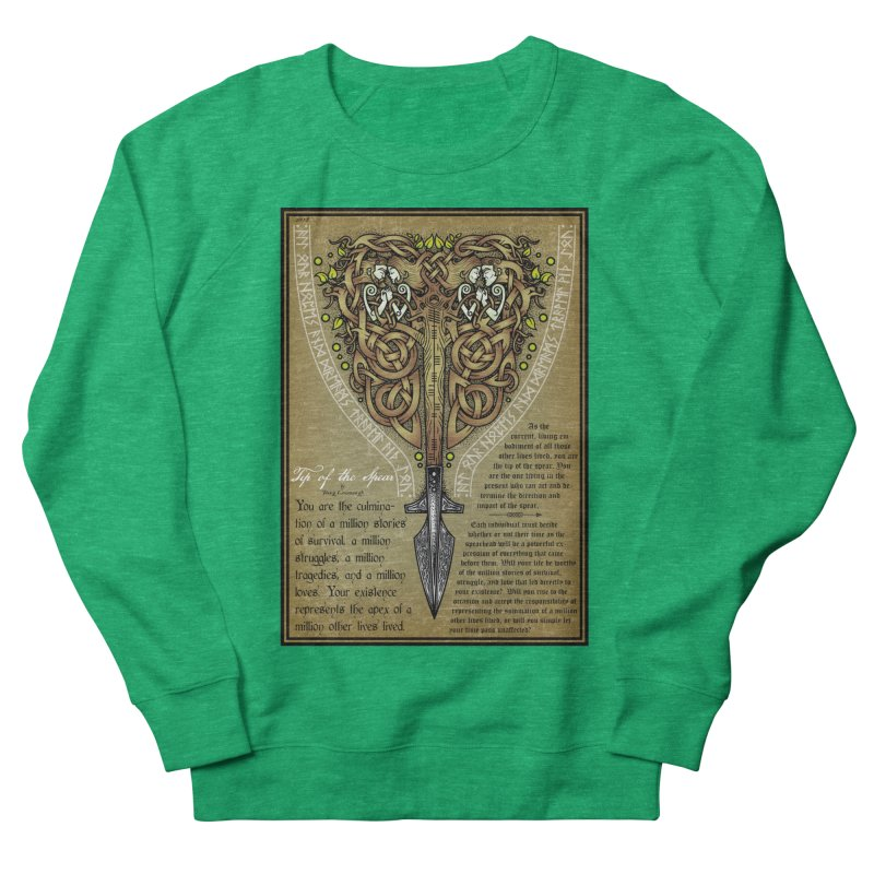 Tip of the Spear (Ancestors) Women's Sweatshirt by Celtic Hammer Club
