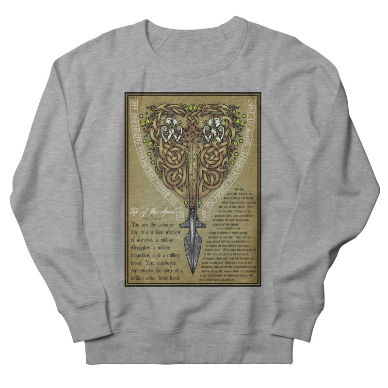 Tip of the Spear (Ancestors) Women's French Terry Sweatshirt by Celtic Hammer Club