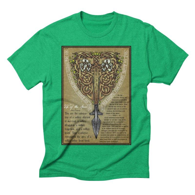 Tip of the Spear (Ancestors) Men's Triblend T-Shirt by Celtic Hammer Club