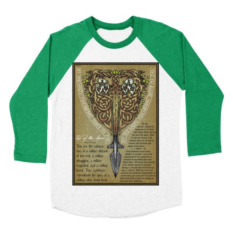 Tip of the Spear (Ancestors) Women's Baseball Triblend Longsleeve T-Shirt by Celtic Hammer Club