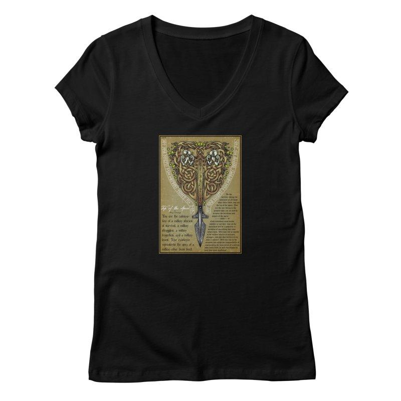 Tip of the Spear (Ancestors) Women's V-Neck by Celtic Hammer Club