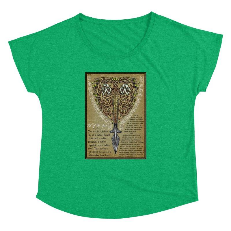 Tip of the Spear (Ancestors) Women's Dolman Scoop Neck by Celtic Hammer Club