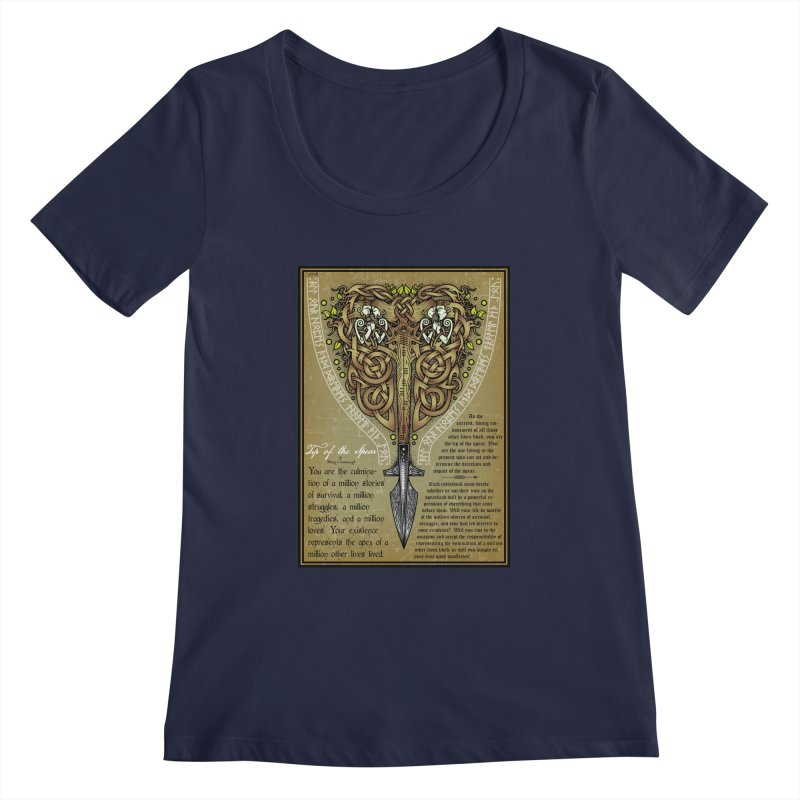 Tip of the Spear (Ancestors) Women's Regular Scoop Neck by Celtic Hammer Club